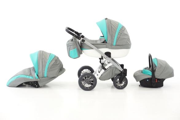 NaXter 3w1 wózek dziecięcy bardzo nowoczesny